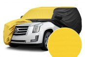 Image may not reflect your exact vehicle! Covercraft® - WeatherShield™ HP Two-Tone Custom Car Cover with Yellow Center and Black Sides