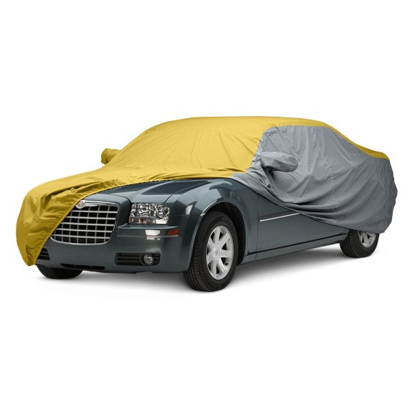 Image may not reflect your exact vehicle! Covercraft® - WeatherShield™ HP Two-Tone Custom Car Cover with Yellow Center and Gray Sides