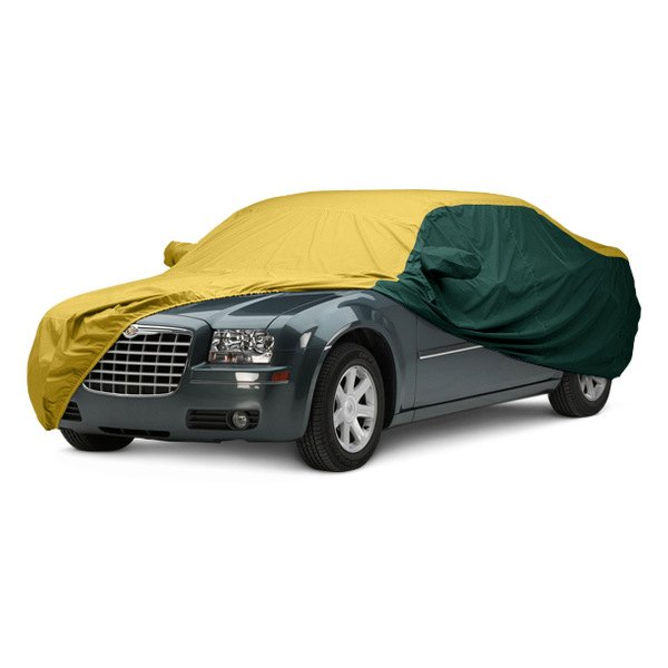 Image may not reflect your exact vehicle! Covercraft® - WeatherShield™ HP Two-Tone Custom Car Cover with Yellow Center and Green Sides