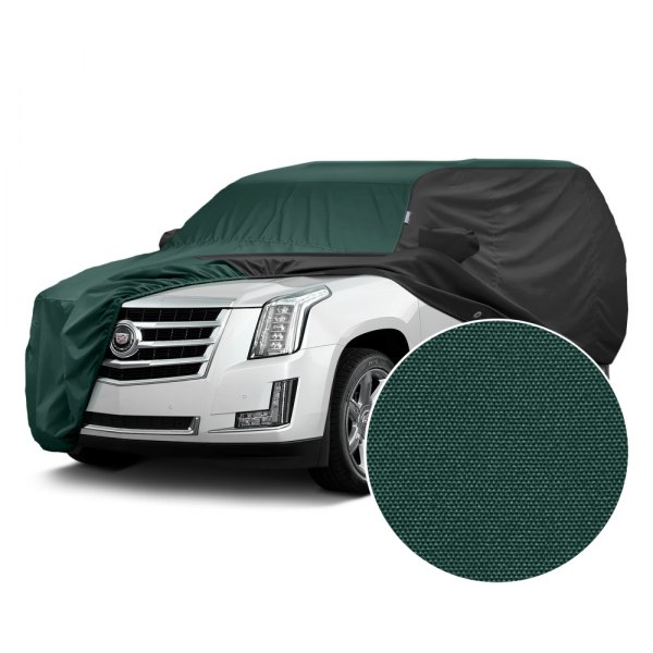 Covercraft® - WeatherShield™ HP Two-Tone Custom Car Cover with Green Center and Black Sides