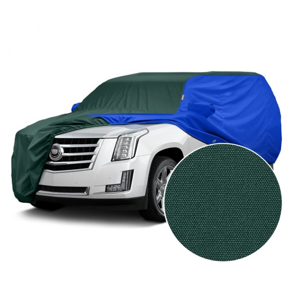 Covercraft® - WeatherShield™ HP Two-Tone Custom Car Cover with Green Center and Bright Blue Sides