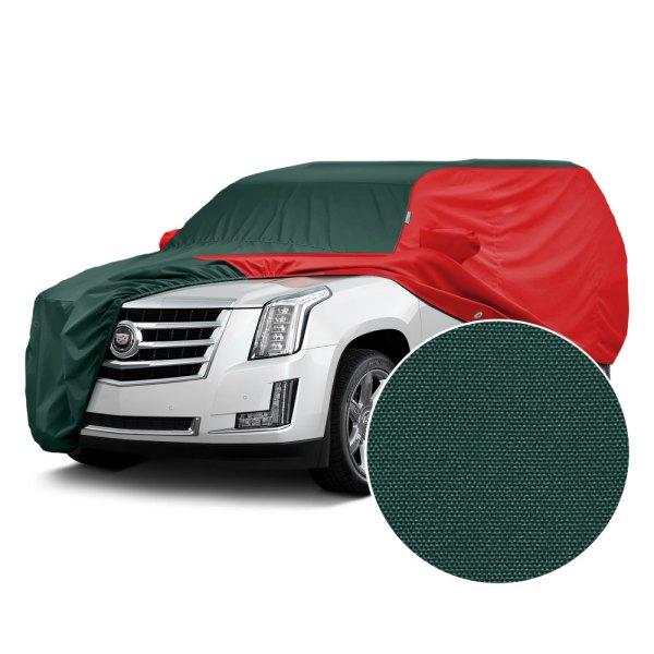 Covercraft® - WeatherShield™ HP Two-Tone Custom Car Cover with Green Center and Red Sides