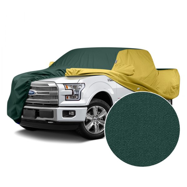Covercraft® - WeatherShield™ HP Two-Tone Custom Car Cover with Green Center and Yellow Sides