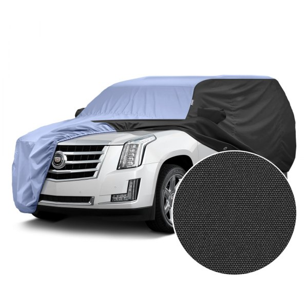 Covercraft® - WeatherShield™ HP Two-Tone Custom Car Cover with Light Blue Center and Black Sides