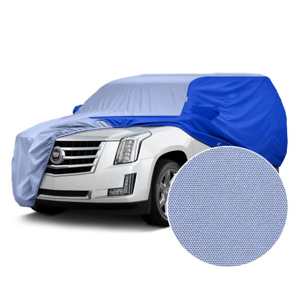 Covercraft® - WeatherShield™ HP Two-Tone Custom Car Cover with Light Blue Center and Bright Blue Sides