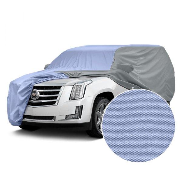 Covercraft® - WeatherShield™ HP Two-Tone Custom Car Cover with Light Blue Center and Gray Sides