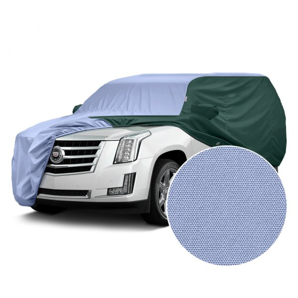 Covercraft® - WeatherShield™ HP Two-Tone Custom Car Cover with Light Blue Center and Green Sides