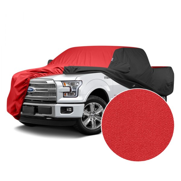 Covercraft® - WeatherShield™ HP Two-Tone Custom Car Cover with Red Center and Black Sides