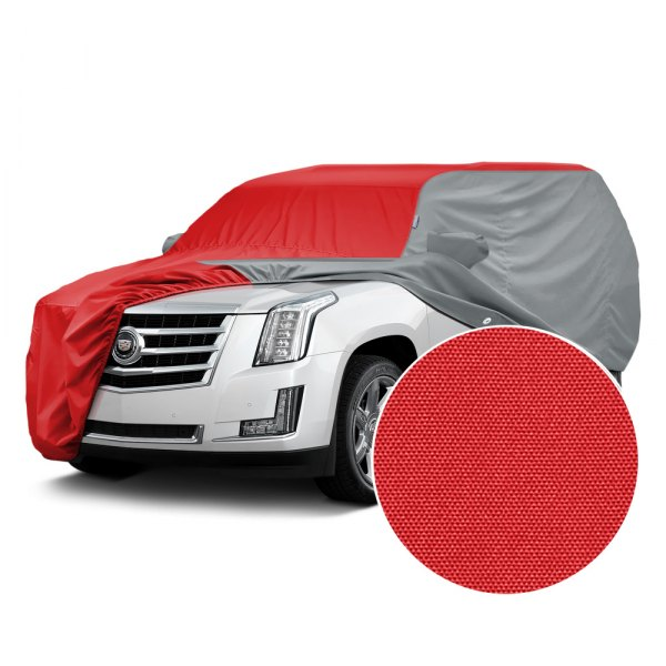 Covercraft® - WeatherShield™ HP Two-Tone Custom Car Cover with Red Center and Gray Sides