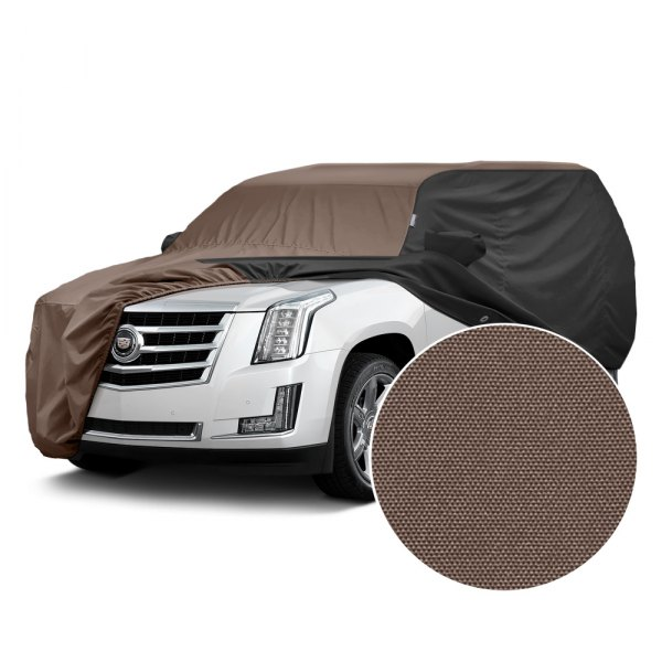 Covercraft® - WeatherShield™ HP Two-Tone Custom Car Cover with Taupe Center and Black Sides