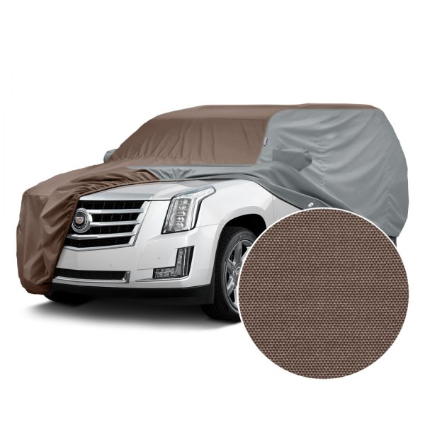 Covercraft® - WeatherShield™ HP Two-Tone Custom Car Cover with Taupe Center and Gray Sides