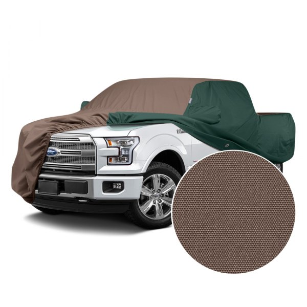 Covercraft® - WeatherShield™ HP Two-Tone Custom Car Cover with Taupe Center and Green Sides