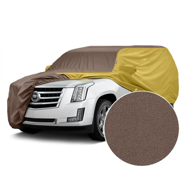 Covercraft® - WeatherShield™ HP Two-Tone Custom Car Cover with Taupe Center and Yellow Sides
