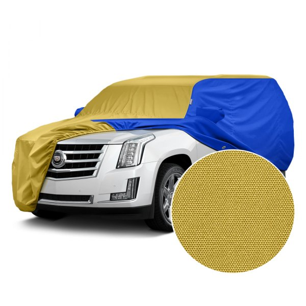 Covercraft® - WeatherShield™ HP Two-Tone Custom Car Cover with Yellow Center and Bright Blue Sides
