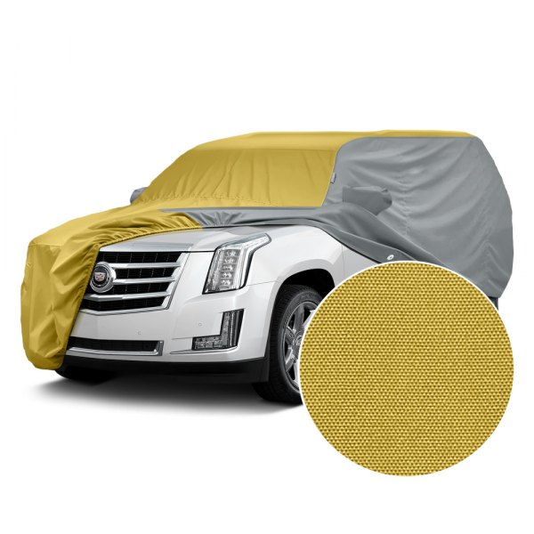 Covercraft® - WeatherShield™ HP Two-Tone Custom Car Cover with Yellow Center and Gray Sides