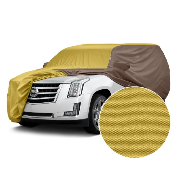 Covercraft® - WeatherShield™ HP Two-Tone Custom Car Cover with Yellow Center and Taupe Sides