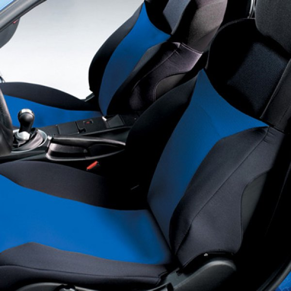 Covercraft®   Black/Blue Seat Cover