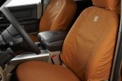 Image may not reflect your exact vehicle! Covercraft® - Carhartt™ 1st Row Brown Seat Covers