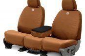 Covercraft® - Front Row Carhartt™ Custom Brown Seat Covers