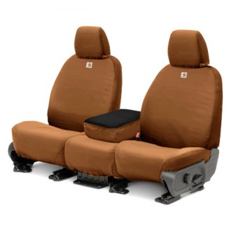 Covercraft® - Front Row Carhartt® SeatSaver™ Custom Brown Seat Covers