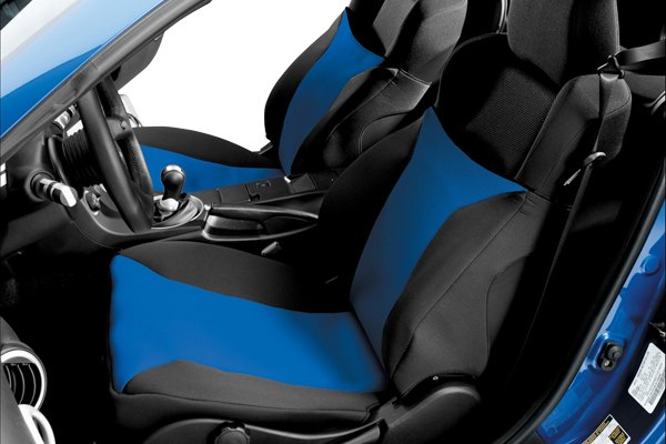 Image may not reflect your exact vehicle! Covercraft® - SeatGloves™ Custom Navy Blue Seat Protectors