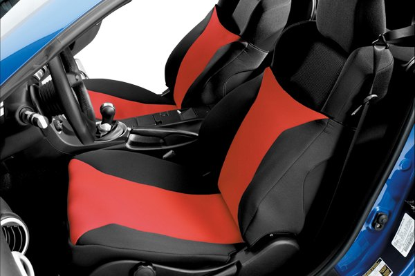 Image may not reflect your exact vehicle! Covercraft® - SeatGloves™ Custom Red Seat Protectors