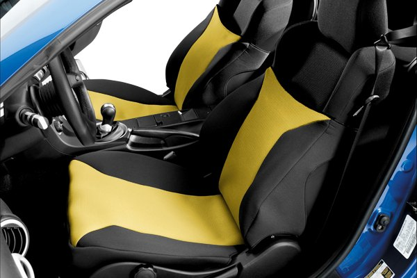 Image may not reflect your exact vehicle! Covercraft® - SeatGloves™ Custom Yellow Seat Protectors