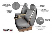 Covercraft® - SeatSaver™ Polycotton Seat Cover Features
