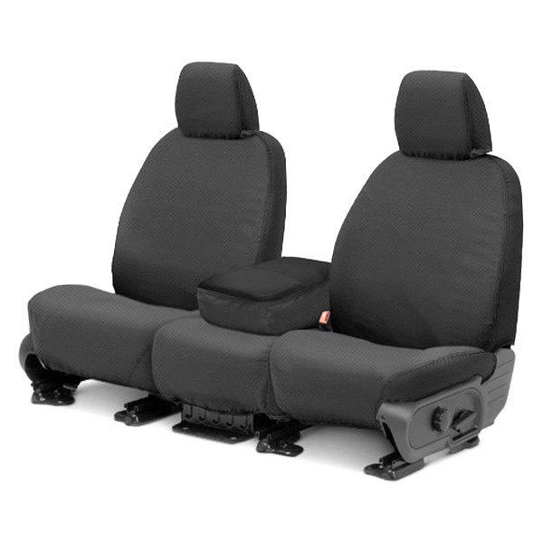 Covercraft® - 1st Row SeatSaver™ Polycotton Custom Charcoal Seat Protectors