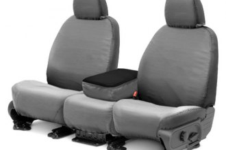 Covercraft® SS3260PCGY - 1st Row SeatSaver™ Polycotton Gray Seat Covers