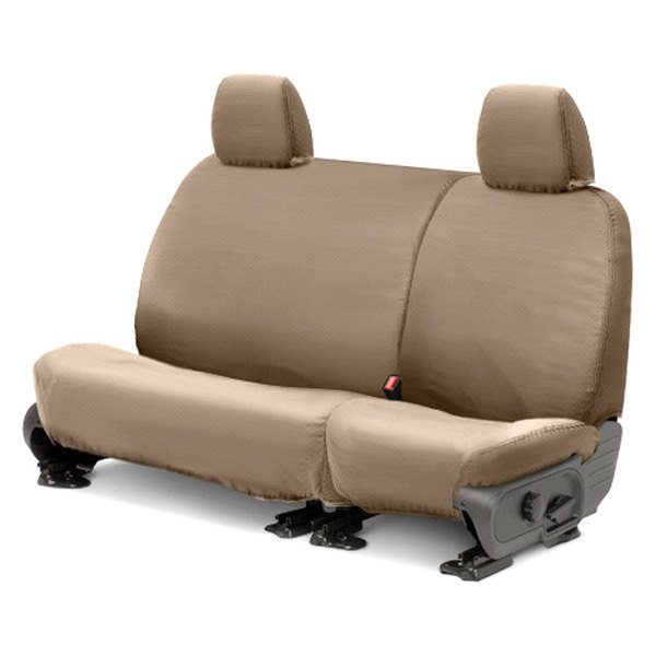 Covercraft® - SeatSaver™ Polycotton 2nd Row Taupe Seat Covers