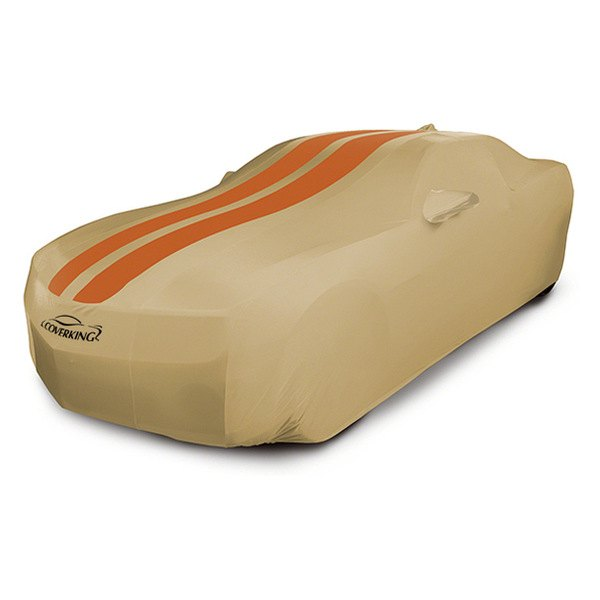 Coverking® - Custom Inferno Orange Satin Stretch™ Racing Stripes