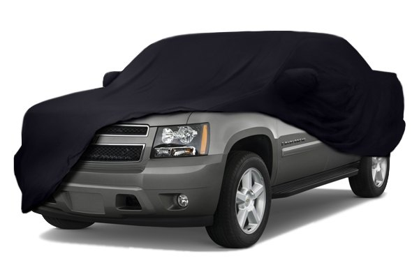 Image may not reflect your exact vehicle! Coverking® - Satin Stretch™ Custom Black Car Cover