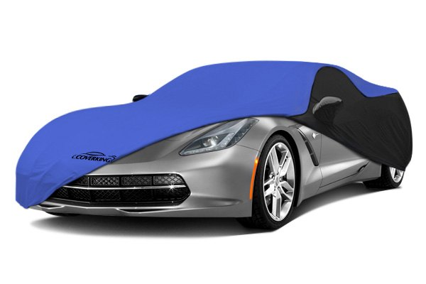 Coverking® - Satin Stretch™ Custom Grabber Blue Car Cover with Black Sides