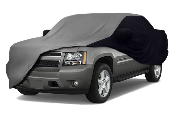 Image may not reflect your exact vehicle! Coverking� - Satin Stretch� Custom Gray Car Cover with Black Sides