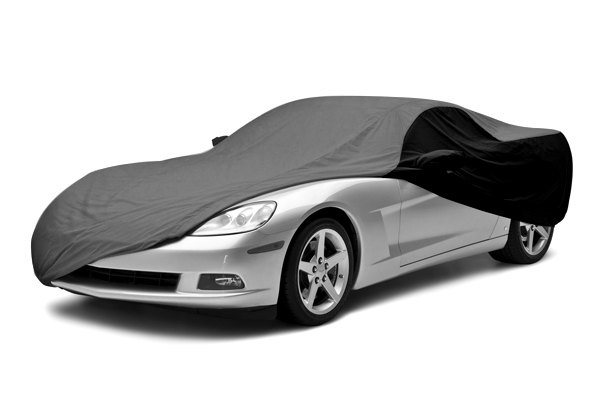 Coverking® - Satin Stretch™ Custom Gray Car Cover with Black Sides