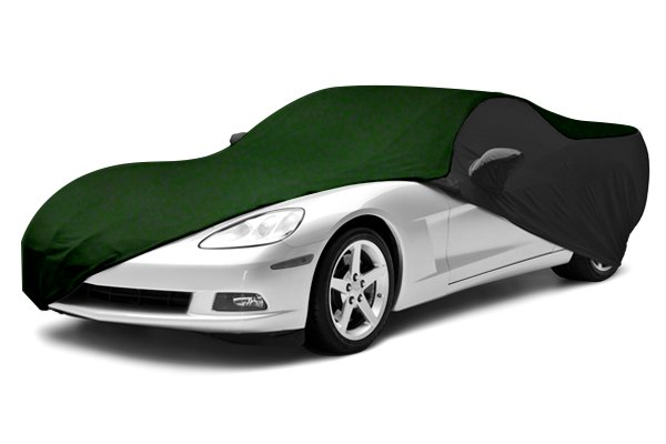 Coverking® - Satin Stretch™ Custom Green Car Cover with Black Sides