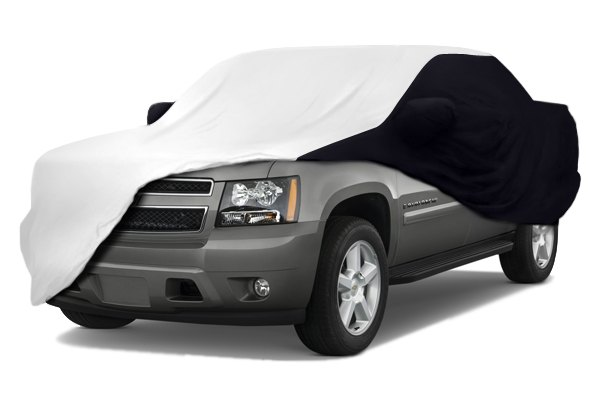 Coverking® - Satin Stretch™ Custom Pearl White Car Cover with Black Sides