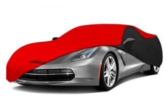 Coverking® CVC3SS294MD2031 - Satin Stretch™ Custom Red Car Cover with Black Sides