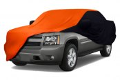 Coverking® - Satin Stretch™ Custom Rust Orange Car Cover with Black Sides