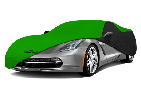 Coverking® - Satin Stretch™ Custom Synergy Green Car Cover with Black Sides