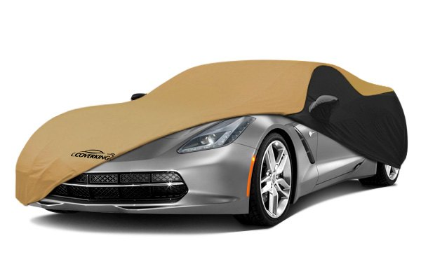 Coverking® - Satin Stretch™ Custom Tan Car Cover with Black Sides
