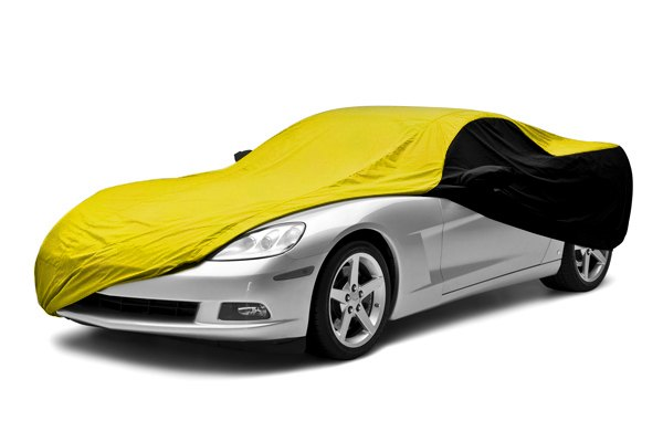 Coverking® - Satin Stretch™ Custom Yellow Car Cover with Black Sides