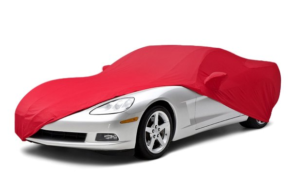 Image may not reflect your exact vehicle! Coverking® - Satin Stretch™ Custom Red Car Cover
