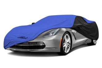 Coverking® CVC3SP297DG7557 - Stormproof™ Custom Blue Car Cover with Black Sides