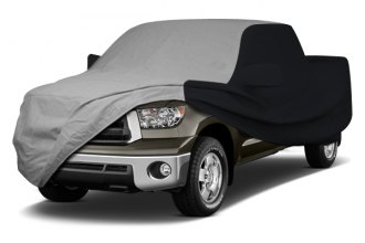 Image may not reflect your exact vehicle! Coverking® - Stormproof™ Custom Gray Car Cover with Black Sides