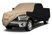 Image may not reflect your exact vehicle! Coverking® - Stormproof™ Custom Tan Car Cover with Black Sides