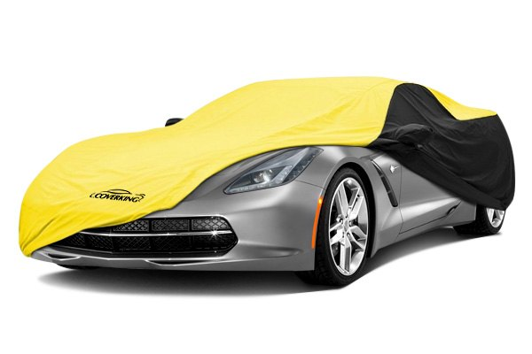 Image may not reflect your exact vehicle! Coverking® - Stormproof™ Custom Yellow Car Cover with Black Sides