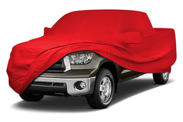 Image may not reflect your exact vehicle! Coverking® - Stormproof™ Custom Red Car Cover