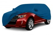 Image may not reflect your exact vehicle! Coverking® - Satin Stretch™ Grabber Blue Custom Car Cover Grabber Blue